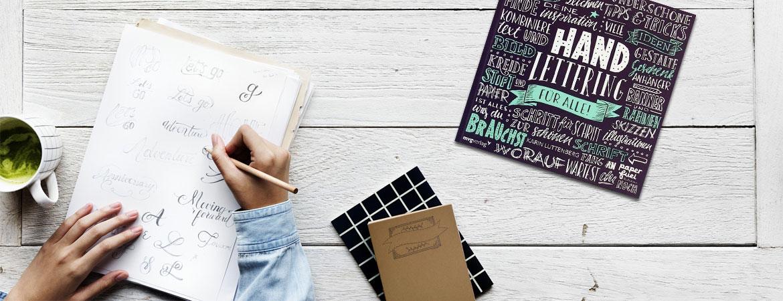 Handlettering - Blöcke, Stifte, Bücher