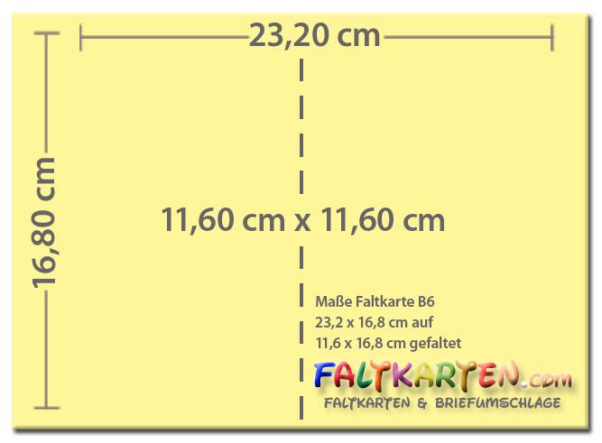 Farbige Faltkarte Mit Passenden Farbigen Briefumschlag In Din B6