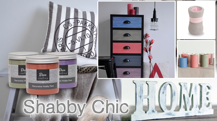 deco lifestyle shabby chic farbe in vielen farben. Black Bedroom Furniture Sets. Home Design Ideas