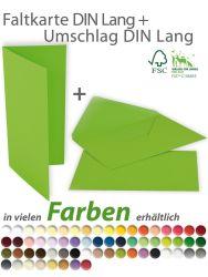 Faltkarte DIN Lang mit Briefumschlag DIN Lang
