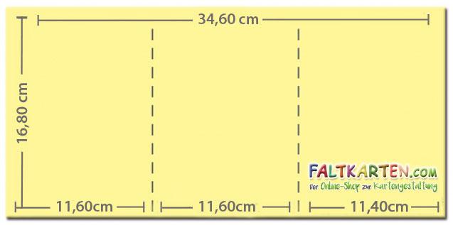 Trippelkarte - Leporello dreifach DIN B6