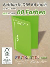 Faltkarte DIN B6