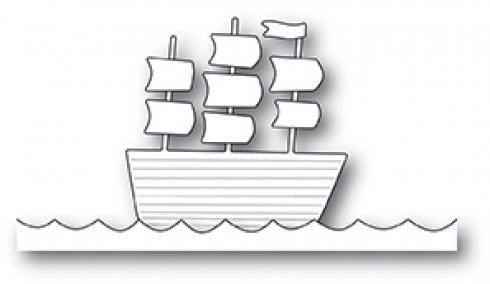 Poppystamp Die - Tall Ship