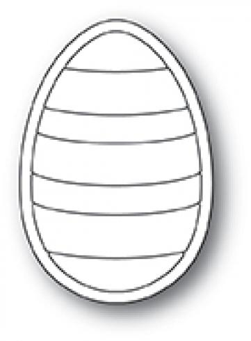 Poppystamp Die - Striped Egg