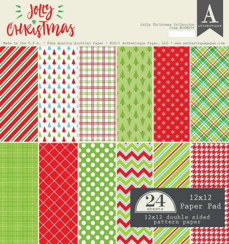 "Authentique ""Jolly Christmas"" 12x12"" Paper Pad"