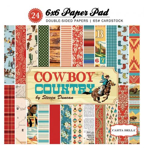 "Carta Bella ""Cowboy Country"" 6x6"" Paper Pad"