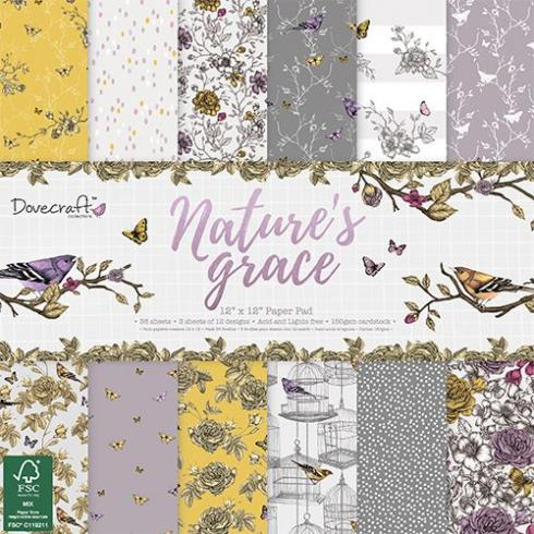 "Dovecraft Paper Pack ""Nature's Grace"" 12x12"""