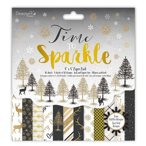 "Dovecraft Paper Pack ""Time to Sparkle"" 8x8"""