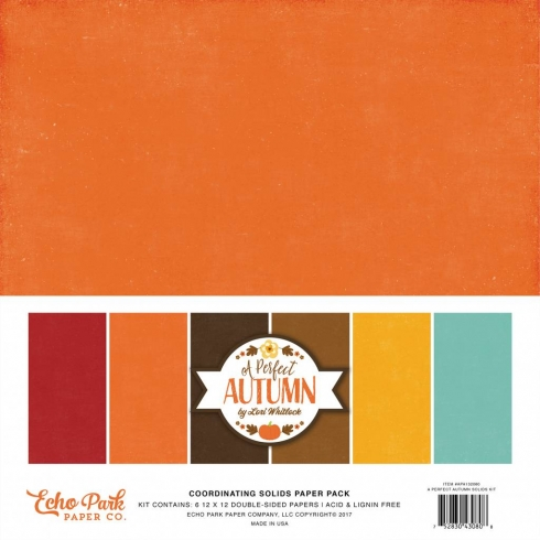 "Echo Park ""A Perfect Autumn"" 12x12"" Paper Pack - Cardstock"