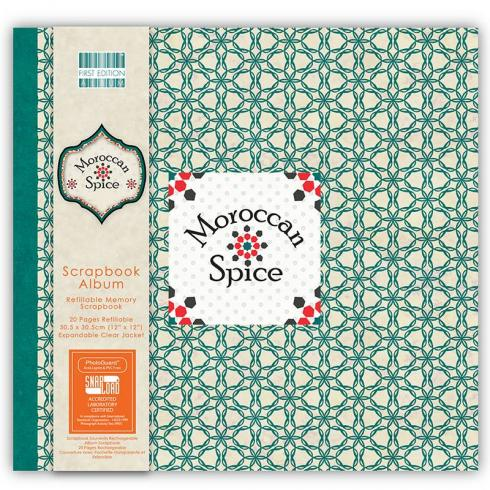 "First Edition Scrapbook Album ""Morrocan Spice"" 12""x12"""