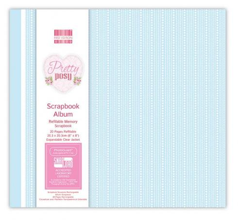 "First Edition Scrapbook Album ""Pretty Posy"" 8""x8"""