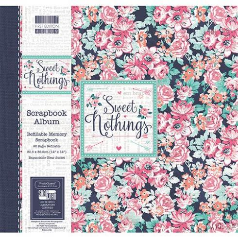 "First Edition Scrapbook Album ""Sweet Nothings Floral "" 12""x12"""