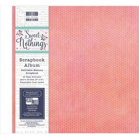 "First Edition Scrapbook Album ""Sweet Nothings"" 8""x8"""