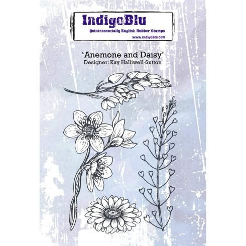 "IndigoBlu ""Anemone and Daisy"" A6 Rubber Stamp..."