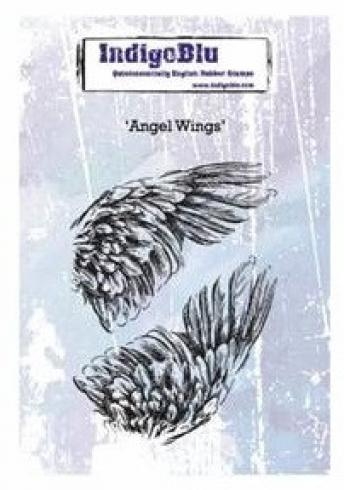 "IndigoBlu ""Angel Wings"" A6 Rubber Stamp"
