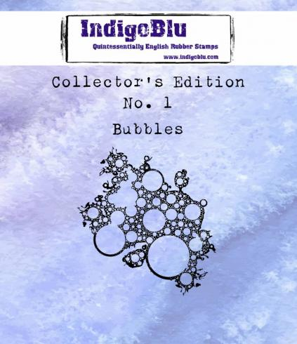 "IndigoBlu ""Collectors Edition 1 - Bubbles"" A7 Rubber Stamp"