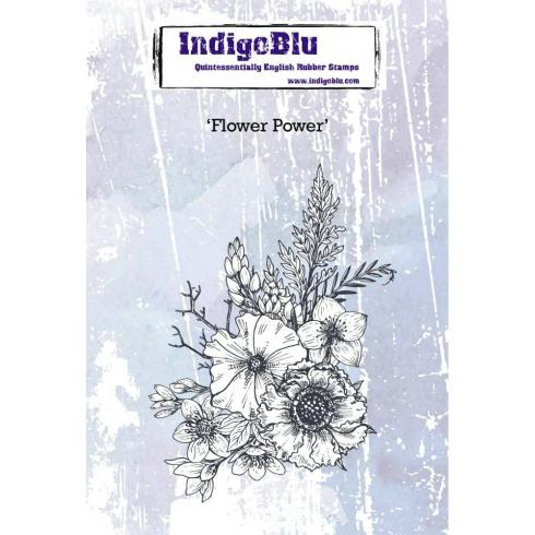 "IndigoBlu ""Flower Power"" A6 Rubber Stamp"
