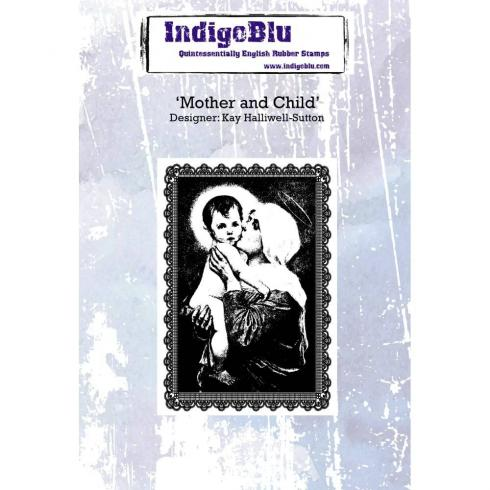 "IndigoBlu ""Mother And Child"" A6 Rubber Stamp"