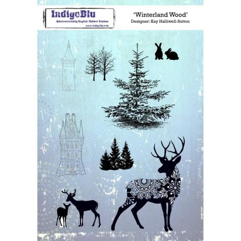 "IndigoBlu ""Winterland Wood"" A5 Rubber Stamp"