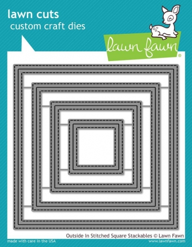 Lawn Fawn Craft Die - Outside In Stitched Square Stackables