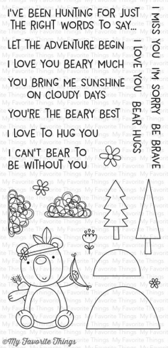"My Favorite Things Stempelset ""Beary Big Adventure"" Clear Stamp"