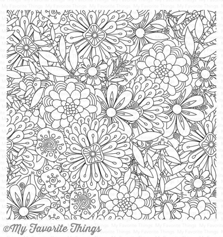 "My Favorite Things ""Bundles Of Blossoms"" 6x6"" Background Cling Stamp"