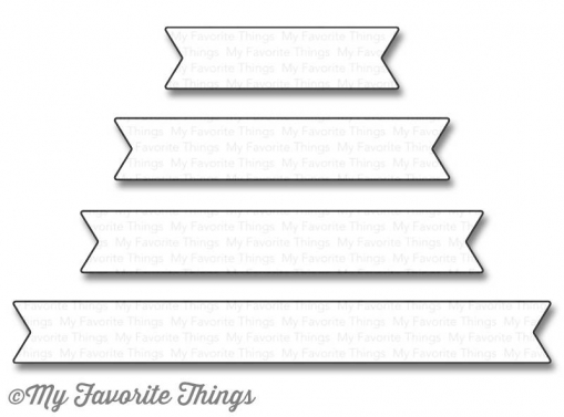 "My Favorite Things Die-namics ""Essential Fishtail Sentiment Strips"""