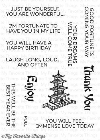 "My Favorite Things Stempelset ""Good Fortune (CS-176)"" Clear Stamp..."