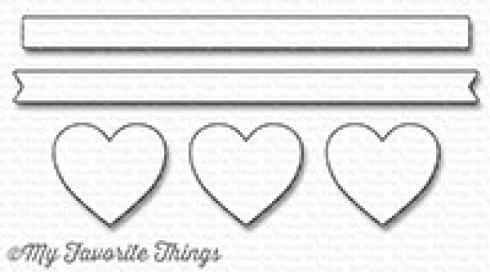 "My Favorite Things Die-namics ""Hearts in a Row - Horizontal"""