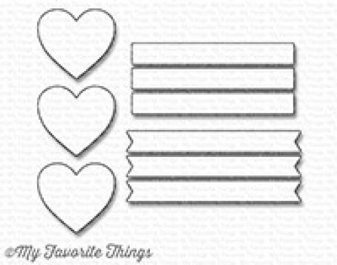 "My Favorite Things Die-namics ""Hearts in a Row - Vertical"""