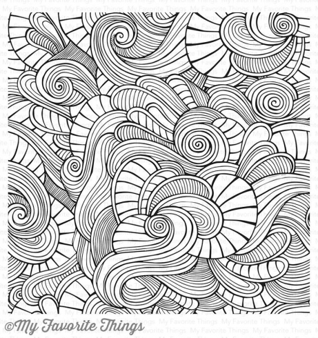 "My Favorite Things ""Wavy Coloring Book"" 6x6"" Background Cling Stamp"