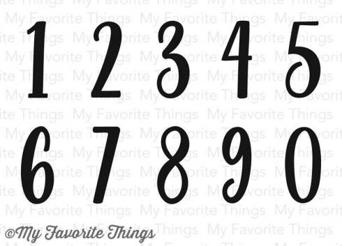 "My Favorite Things Stempelset ""Well-Connected Numbers (CS-191)"" Clear Stamp..."