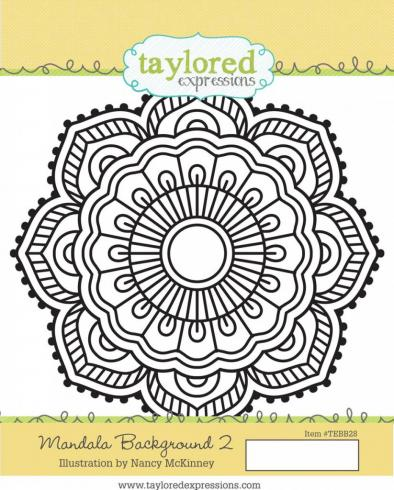 "Taylored Expressions Hintergrundstempel ""Mandala Background"