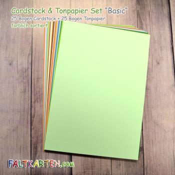 "Cardstock & Tonpapier Set DIN A4 ""Basic"" 50 Bogen farbig sortiert"