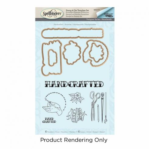 "Spellbinders Stempel & Stanzset ""Handcrafted"""