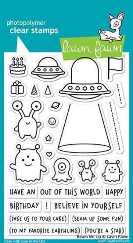 "Lawn Fawn Stempelset ""Beam Me Up"" Clear Stamp"