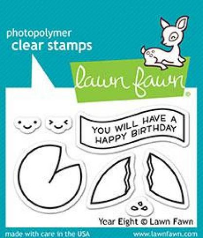 "Lawn Fawn Stempelset ""Year Eight"" Clear Stamp"