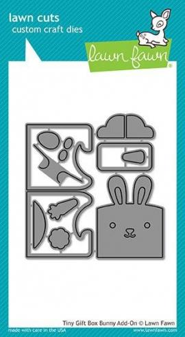 Lawn Fawn Craft Die - Tiny Gift Box Bunny Add-On Dies