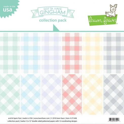 "Lawn Fawn 12x12 ""Gotta Have Gingham"" Paper Pad"