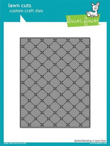 Lawn Fawn Craft Die - Quilted Backdrop