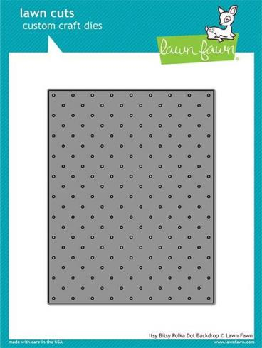 Lawn Fawn Craft Die - Itsy Bitsy Polka Dot Backdrop