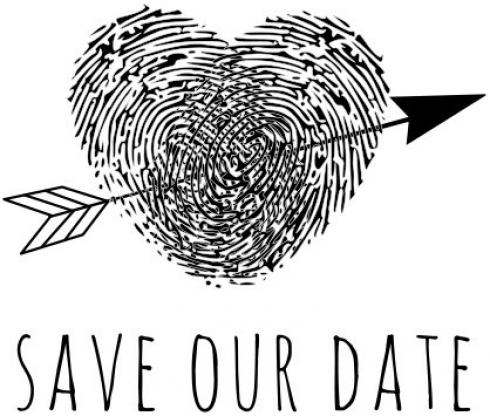 "Aladine Stempel ""Save Our Date"" Wooden Stamp - Holzstempel"
