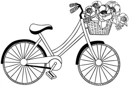 "Aladine Stempel ""Bicycle"" Wooden Stamp - Holzstempel"