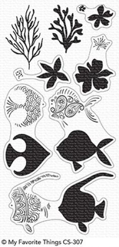 "My Favorite Things Stempelset ""Adorned Ocean Friends"" Clear Stamp Set"