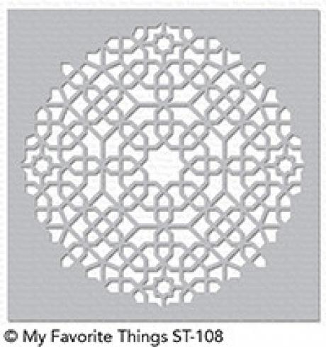 "My Favorite Things ""Moroccan Mosaic"" Stencil 6x6"""