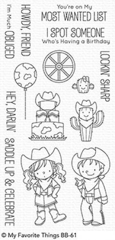 "My Favorite Things Stempelset ""Saddle Up & Celebrate"" Clear Stamp Set..."