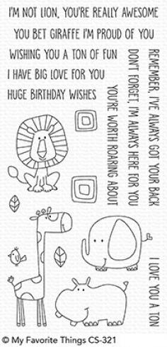 "My Favorite Things Stempelset ""Safari Friends"" Clear Stamp Set"