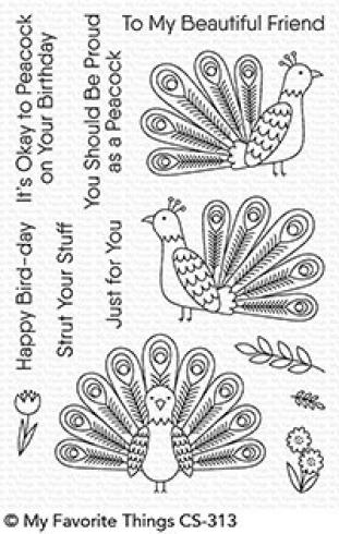 "My Favorite Things Stempelset ""Playful Peacock"" Clear Stamp Set..."