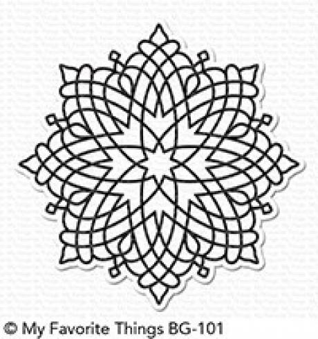 "My Favorite Things ""Captivating Mandala"" 6x6"" Background Cling Stamp"