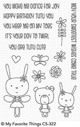 "My Favorite Things Stempelset ""Tutu Trio"" Clear Stamp Set"